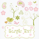 Retro Spring elements. A set of retro styled spring elements Stock Photos