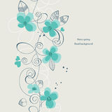 Retro spring floral background. Retro spring calligraphic floral background (seamless pattern Stock Image