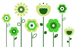 Retro spring flowers Stock Photography