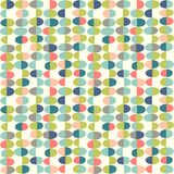 Retro Spring seamless pattern of abstract easter eggs. Cheerful retro design for fabric, wallpaper, backgrounds and decoration Royalty Free Stock Photos