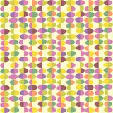 Retro Spring seamless pattern of abstract easter eggs. Cheerful retro design for fabric, wallpaper, backgrounds and decoration Stock Photography
