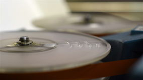 Retro- Spulen-Audio-Recorder stock footage