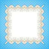 Retro square lace frame Royalty Free Stock Images