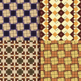 Retro square patterns background Royalty Free Stock Photos