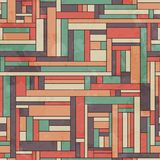 Retro square seamless pattern with grunge effect Stock Images