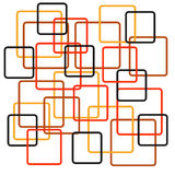 Retro Squares. In different colors Stock Photography