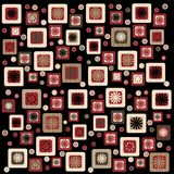 Retro squares. Brown and terra cotta retro squares patterned background Royalty Free Stock Photo