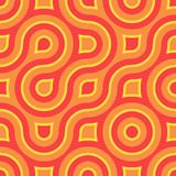 Retro Squares. Retro abstract of rounded squares in melon, orange and sunny yellow Stock Photo