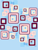 Retro squares pattern Stock Photos