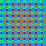 Retro Squares Pattern. Vintage sixties colorful checkered background Royalty Free Stock Photography