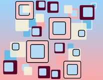 Retro squares pattern Royalty Free Stock Images