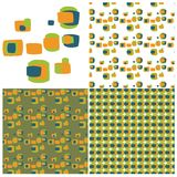 Retro Squares Swatch Set Stock Photo