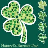 Retro St. Patrick's Day shamrocks Royalty Free Stock Photo