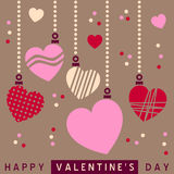 Retro St. Valentine s Hearts [2] Stock Photos