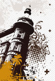 Retro Stad van Grunge Stock Afbeeldingen