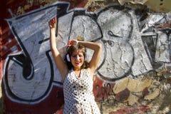 Retro stads- musik Arkivfoto