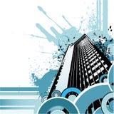 Retro stadsvector Royalty-vrije Stock Afbeelding