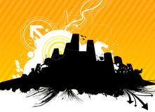 Retro- Stadtvektor lizenzfreie abbildung