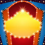 Retro stage shining banner background. Vector illustration Royalty Free Stock Image