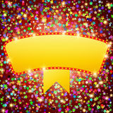 Retro stage shining banner on stars background Royalty Free Stock Photo