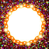 Retro stage shining banner on stars background. Vector illustration Stock Photography