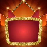 Retro stage shining sparkle banner background. Vector illustration Stock Photo