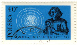 Retro stamp of Copernicus Royalty Free Stock Photography