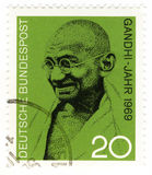 Retro stamp with Gandhi