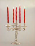 Retro Stand and five lighted candles India Royalty Free Stock Image