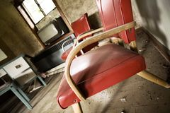 Retro stanza di motel Fotografie Stock