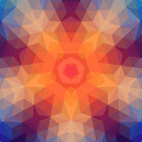 Retro star backdrop of geometric shapes. Colorful mosaic banner. Stock Photography