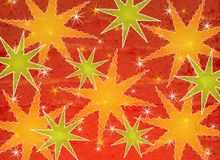 Retro Star Christmas Pattern 2 stock illustration
