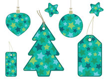 Retro star gift tags Royalty Free Stock Image
