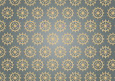 Retro Star Hexagon Pattern on Pastel Color Royalty Free Stock Photo