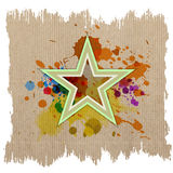Retro star with ink splash Stock Images