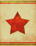 Retro Star Poster Background Stock Image