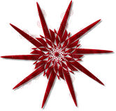 Retro Star Swirls. In chrome red Stock Images