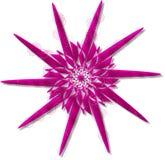 Retro Star Swirls. In chrome pink vector illustration