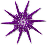 Retro Star Swirls. In chrome purple Royalty Free Stock Photo