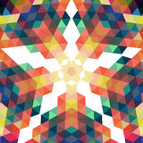 Retro star vector backdrop. Mosaic hipster background made of tr Royalty Free Stock Image