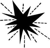 Retro starburst vector illustratie
