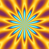 Retro starburst. A bright orange and blue star burst illustration - very retro Royalty Free Stock Images
