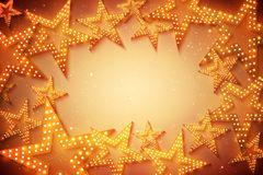 Retro stars abstract background for your design, light and shining stock illustration