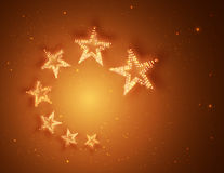 Retro Stars Abstract Background for your Design, Light and Shining. Vector vector illustration