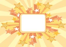 Retro stars background Stock Images