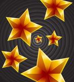 Retro Stars Background. Abstract Conceptual Decorative Art of Retro Stars Background Stock Photo
