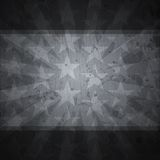 Retro stars black background with grunge effect Royalty Free Stock Images
