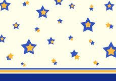 Retro stars pattern Stock Photography
