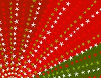 Retro Stars Xmas Background Stock Photography