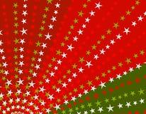 Retro Stars Xmas Background Stock Photography